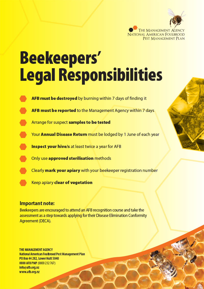 beekeepers legal responsibilities